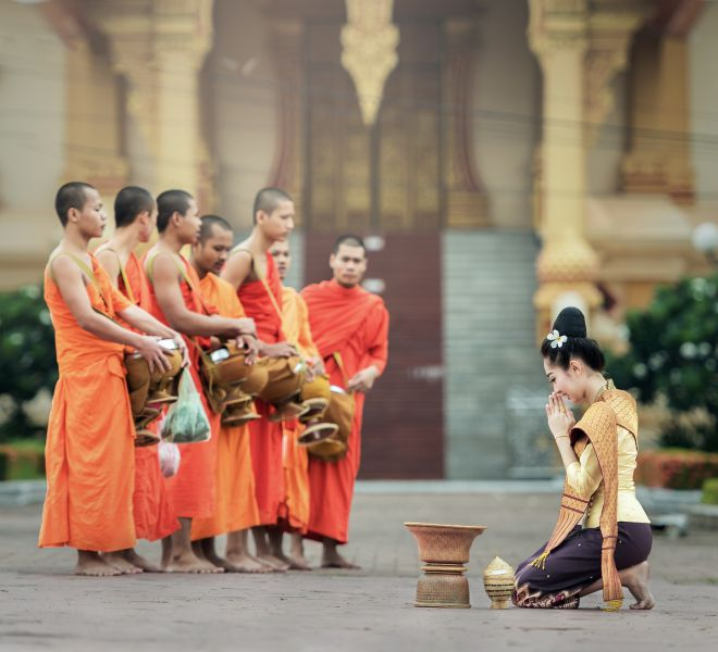 Bangkok Mönche